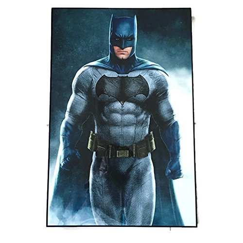 "[Agility Framed Batman (Batman Teaser) 10""x15"" Poster in Basic Solid Wood Frame Wall Art] (Frank Miller Batman Costume)"