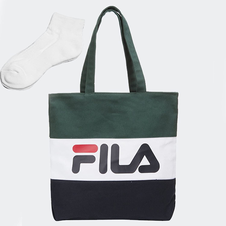 [FILA]フィラ BLOCKING ECO BAG カラー ブロッキングエコバッグ トートバッグ カバン [並行輸入品] B07DCMP6Z2グリーン