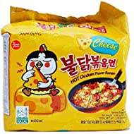 Samyang (5 Pack) Cheese Spicy Hot Chicken Flavored Ramen Noodles