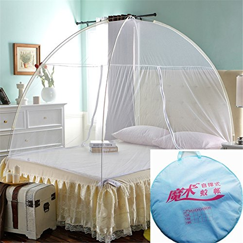 Ice Bedding Crib (Ice Store Outdoor Indoor Mongolian Yurt Dome Net-Free Installation Folding Nets Prevent Insect Mosquito Pop Up Tent Curtain (100200cm,white))