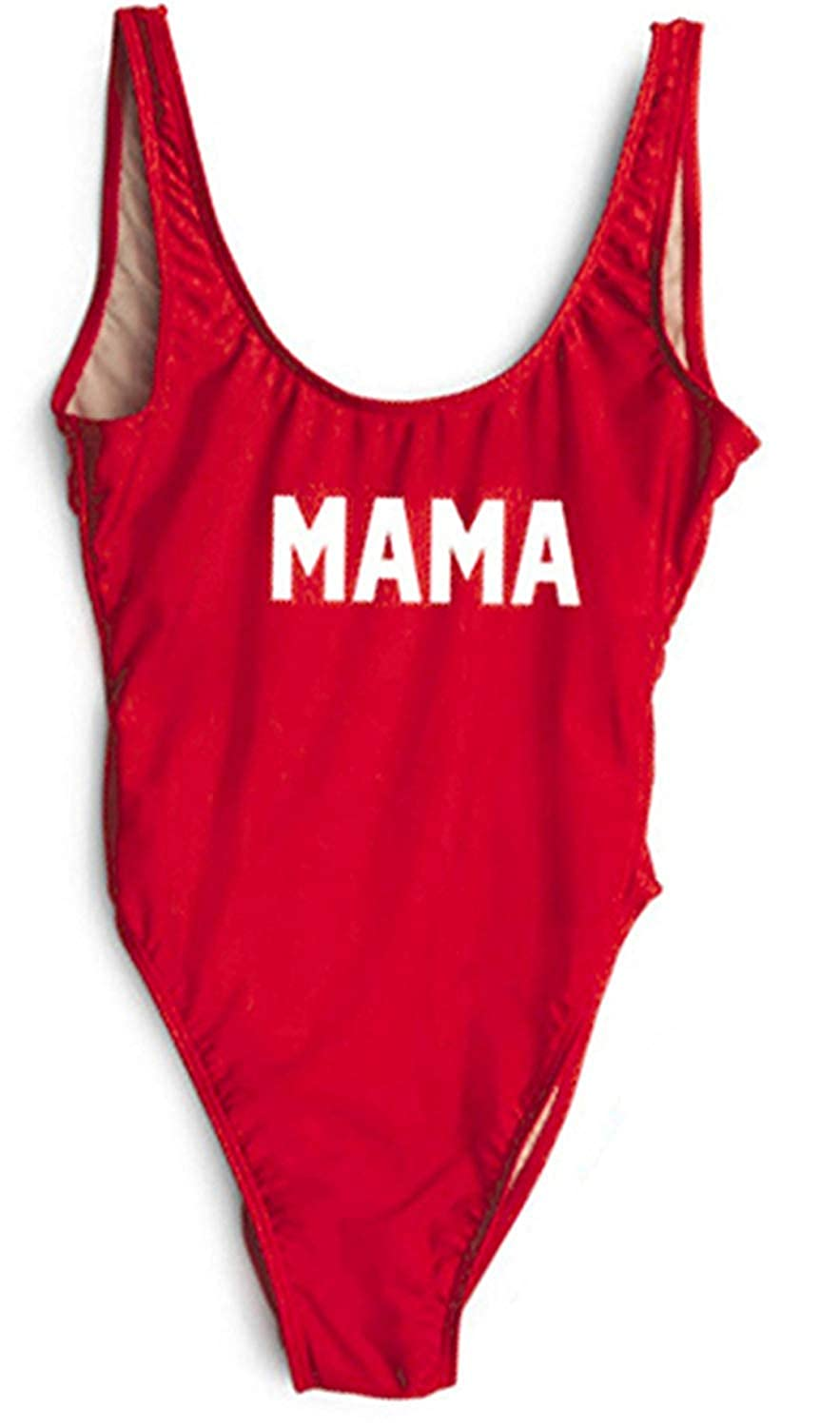Acircle Mommy and Me Swimsuit Letters Print One Piece Swimsuit Bathing Suit for Mother and Daughter Family Matching Swimwear