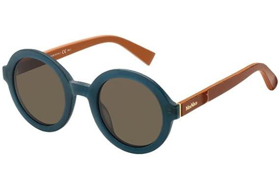 Womens mm Ilde II 9O U2Q Sunglasses, Blk Dkruthen/Brown, 57 Max Mara