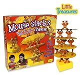 Mouse Stacks Cheese Tower Game, too many mice! A Fun Balancing Tumble Game 2 - 4 Players