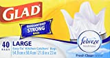 Image of Glad Easy-Tie Large Kitchen Catchers Garbage Bags with Febreze Freshness, 40 Bags