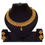 Pourni Short Necklace Set with Jhumka Earring Necklace Set For Women