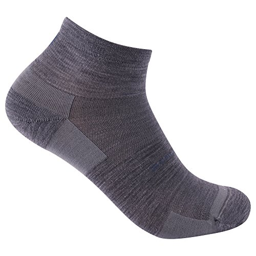 Running Socks, ZEALWOOD Meirno Wool Anti Blister No Show Running Socks Women and Men Cycling Athletic Golf,3 Pairs-Grey,Small by ZEALWOOD (Image #6)