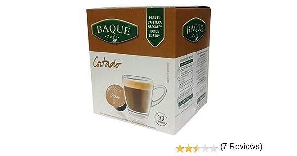 Cafés Baqué Cápsulas Compatibles Dolce Gusto Cortado - 60 gr ...