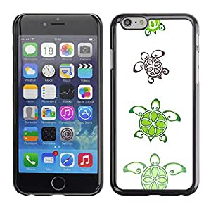 For Apple iPhone 6(4.7 inches) Case , Lime Pattern Cute White Art Animal - Diseño Patrón Teléfono Caso Cubierta Case Bumper Duro Protección Case Cover Funda