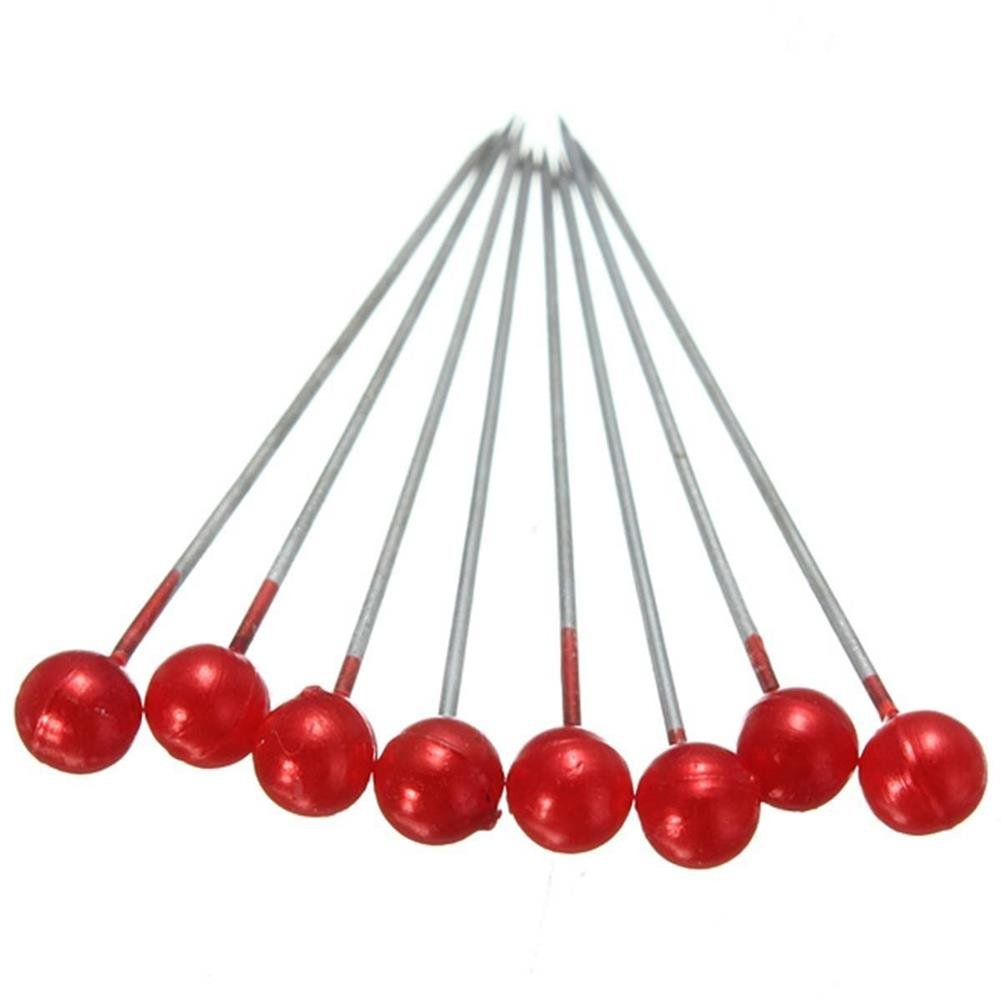 Wetco 800 Pcs 3.5 cm Round Pearl Head Pins Dressmaking Pins Corsage Florists Weddings Sewing Pin White
