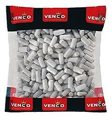 Licorice in 1 Kilo /2.2lbs - Venco Schoolkrijt (Mint Coated Licorice) School chalk liquorice.