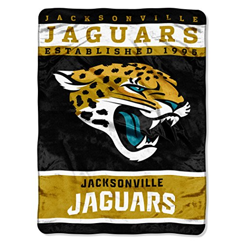 The Northwest Company Officially Licensed NFL Jacksonville Jaguars 12th Man Plush Raschel Throw Blanket, 60