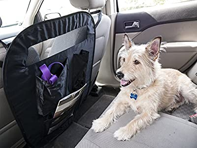 Furhaven Pet Universal Adjustable Car Safety Travel Barrier and Back Seat Organizer with Storage Bag, Black from Furhaven Pet Products, Inc.