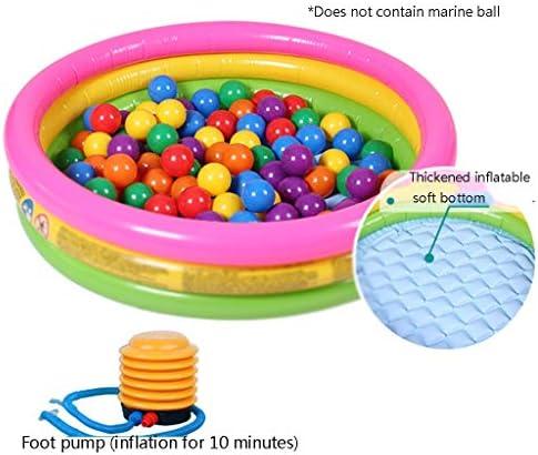 インフレータブルプール 子供の小さな丸いプール ガーデンと屋外の子供用プール ファミリーインフレータブルプール (Color : Green, Size : 86*25cm)