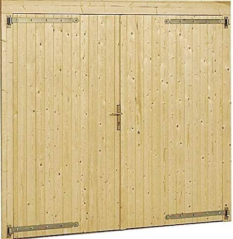 box auto in legno da giardino abete naturale GartenPro Garage 3454