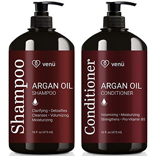 Argan Oil Shampoo and Conditioner Set – Restorative, Volum