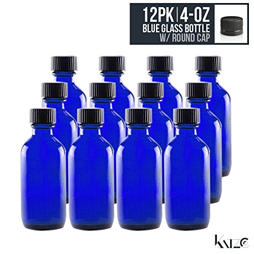 12-pack-4-oz-cobalt-blue-boston-round-glass-bottle-with-screw-on-cap-118-ml-hydrosol-kitchen-cosmeti