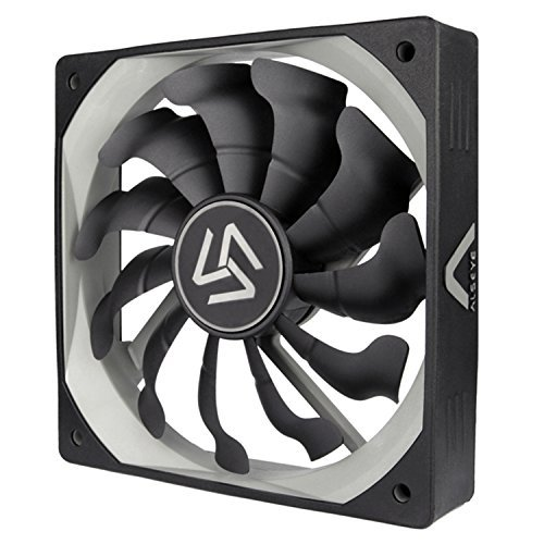 ALSEYE Computer Fan Silicone Skin Ultra Quite Hydraulic Bearing 40,000 Hours Long Life Black 12025 120mm