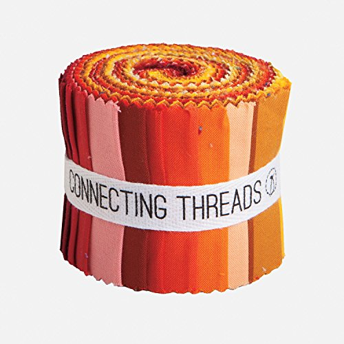 Connecting Threads Color Wheel Premium Precut Fabric Bundle (Warm Sunset 2.5
