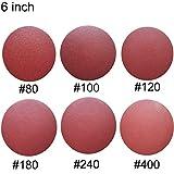 Sackorange 60 PCS 6-Inch NO-Hole PSA Aluminum Oxide Sanding Disc, Self Stick(10 Each of 80 100 120 180 240 400)