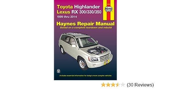 2001 Toyota Highlander Repair Shop Manual Original Set