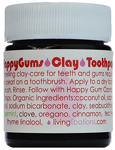 (Living Libations - Organic/Wildcrafted Happy Gums Clay Toothpaste (.5 oz/15 ml))