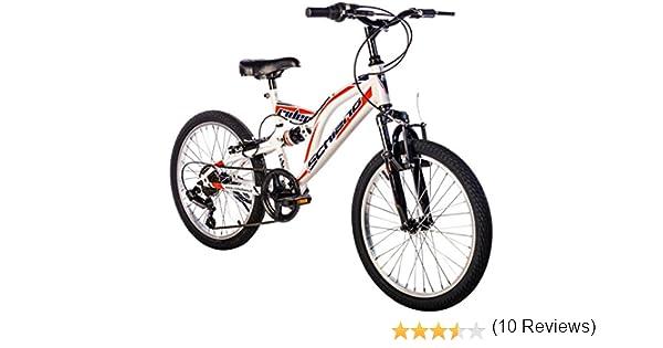 F.lli Schiano Rider Bicicleta Biamortiguada, Hombre, Blanco/Rojo ...