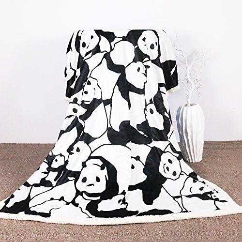 Sleepwish Panda Plush Blanket Cartoon Animal Throw Blanket Cute Panda Bears Graphic Pattern Kids Blankets Fleece (50x60 Inches) by Sleepwish