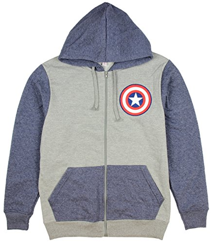 Marvel Comics Captain America Shield Logo Hoodie Small (Captain America Hoodie With Mask compare prices)