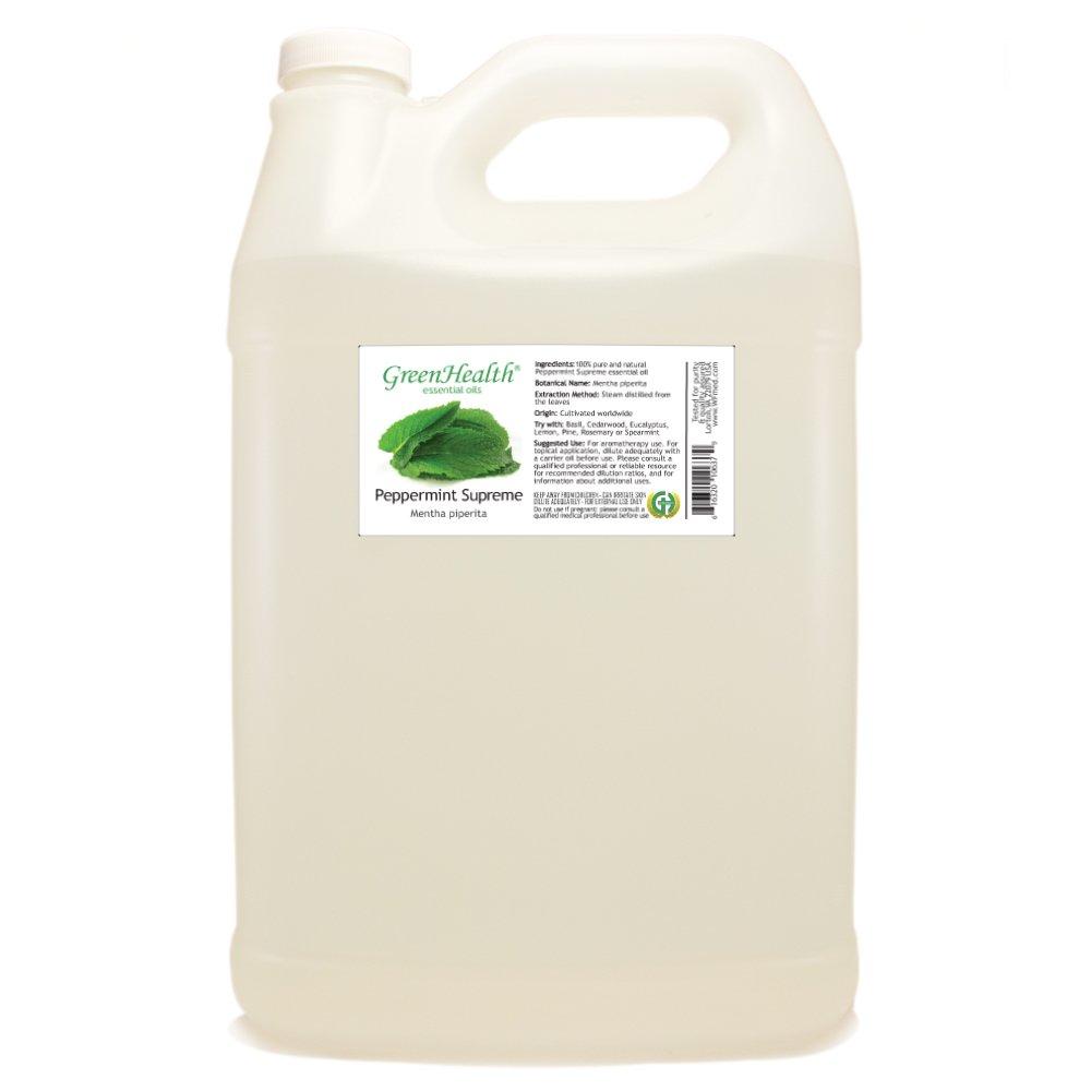 1 Gallon Peppermint Supreme Essential Oil (100% Pure & Uncut) Plastic Jug - GreenHealth