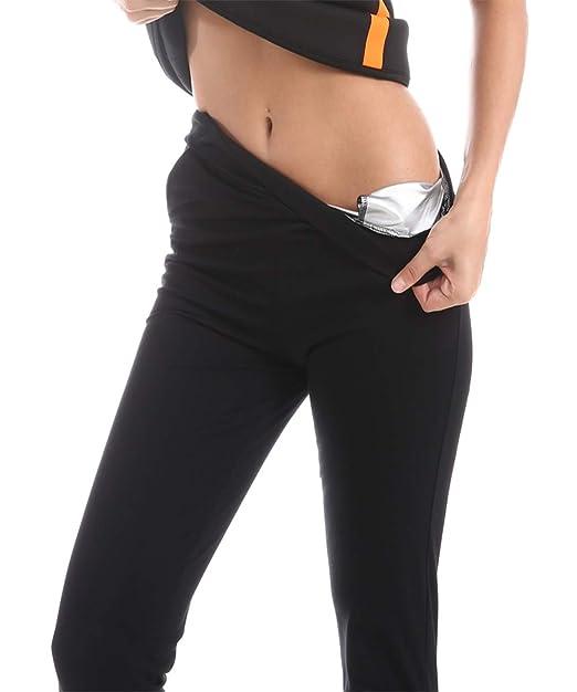 3128f8f6e Amazon.com  Women Hot Shapers Sweat Pants Body Shaper Weight Lose Fat  Burning Stretch Slimming Waist Pants  Clothing