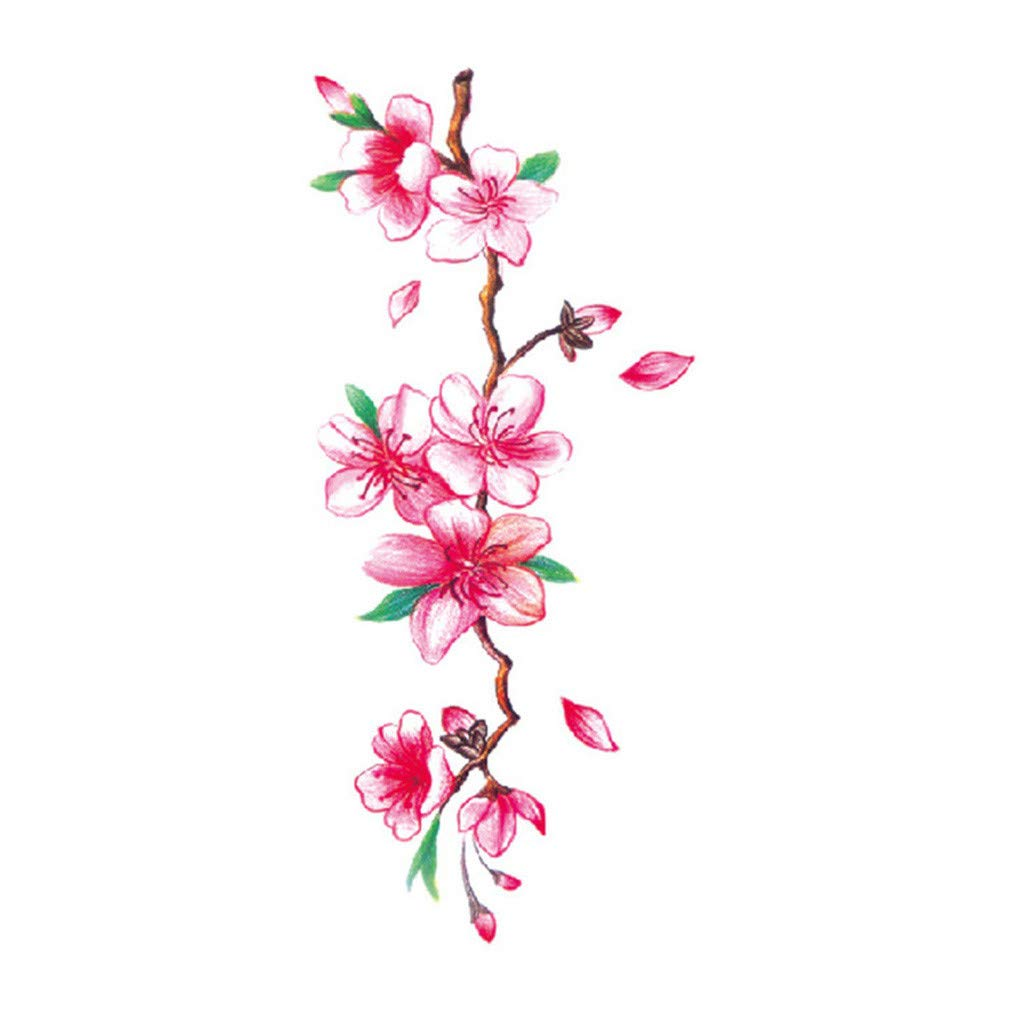 Flower Temporary Tattoos Stickers Plum Blossoms Flash Tattoo Sticker