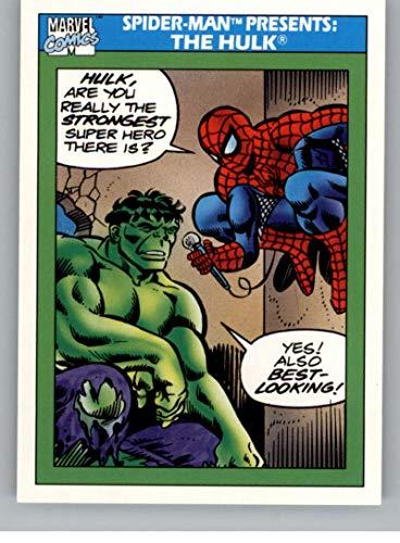 1990 Impel Marvel Universe NonSport Trading Card #152 Spider-Man Presents: The Hulk