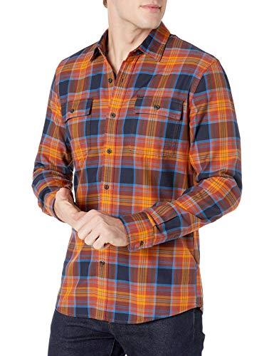 Amazon Brand - Goodthreads Men's Slim-Fit Long-Sleeve Plaid Twill Shirt