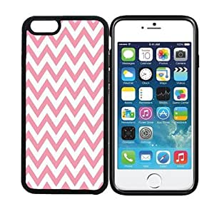 iPhone 6 (4.7 inch display) RCGrafix Chevron Zig Zag Pattern - Bubblegum - Designer BLACK Case - Fits Apple iPhone 6- Protected Cell Phone Cover PLUS Bonus Iphone Apps Business Productivity Review Guide