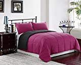 Pink / Grey 2-Piece Reversible Down Alternative Comforter Set | Size: TWIN | One Day Sale