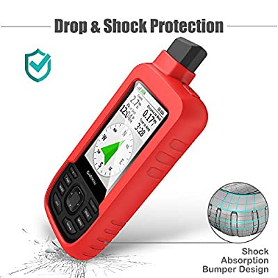 TUSITA Case for Garmin GPSMAP 66s 66st - Silicone Protective Cover - Handheld GPS Accessories (Red): GPS & Navigation