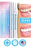 Pack of 2 Teeth Whitening Pen 4ml + Bamboo Toothbrush Professional Safe with 35% Carbamide Peroxide Gel Effective Painless Natural No Sensitivity Premium Beautiful White Smile Treatments Formulated