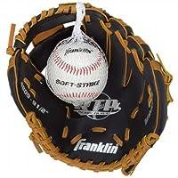 Guantes de béisbol con pelota Franklin de Black & Tan Sports