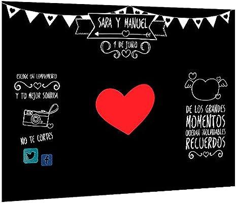 Photocall Pizarra Personalizado | Decoración de boda ...