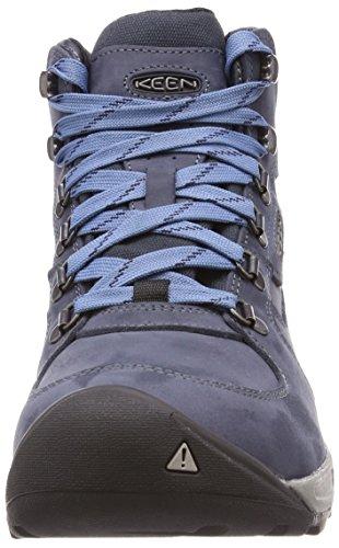 Scherp In Westelijke Richting Mid Leer Waterdicht Schuh - Aw17 Marineblauw