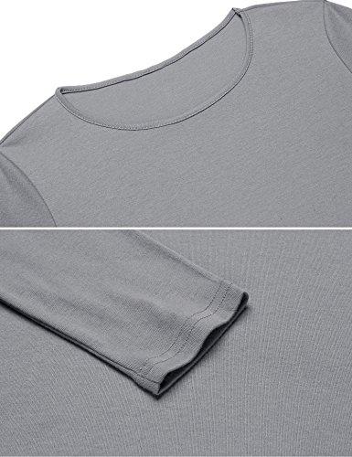 Meaneor Damen Elegant Langarmshirt Tunika Rollkragen Asymmetrisch ...