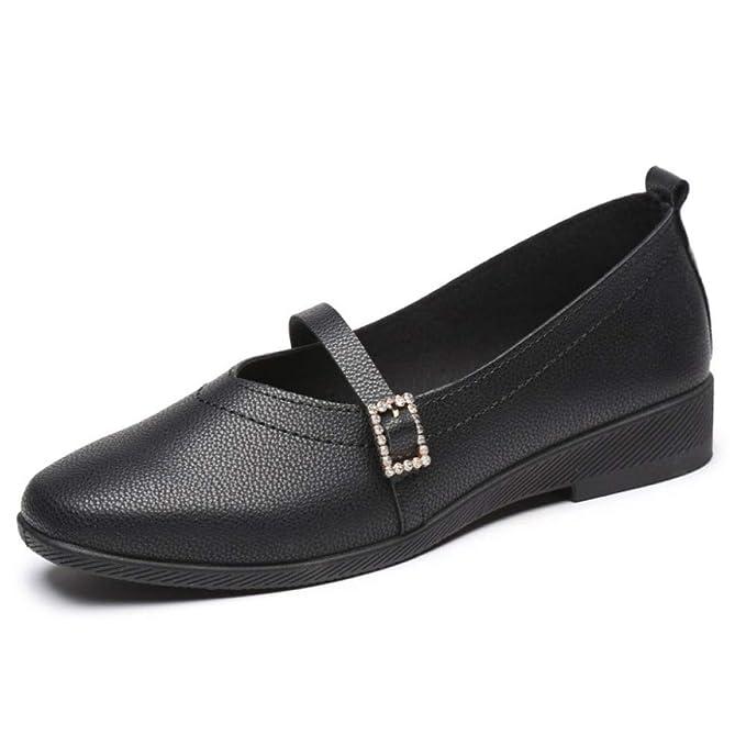 PLNXDM Pisos Zapatos Damas Casual,Mary Jane Oficina Mocasines Zapatillas Mocasines: Amazon.es: Ropa y accesorios