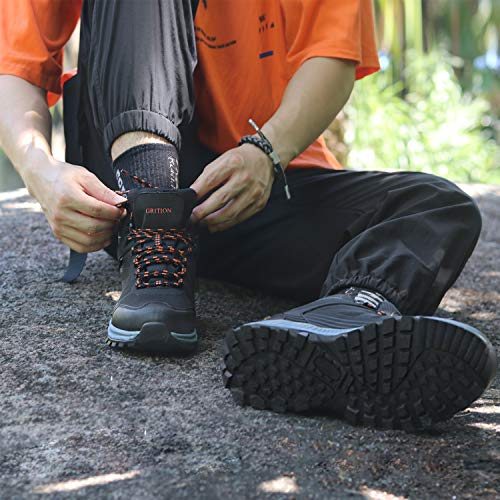 GRITION Chaussures de Randonnée Homme imperméables Chaussures de Trail,Bottes de Marche Moto Homme d'hiver de randonnée… 6