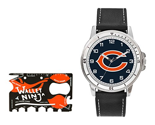 Chicago Bears Black Face - NFL Chicago Bears Watch and Wallet Ninja