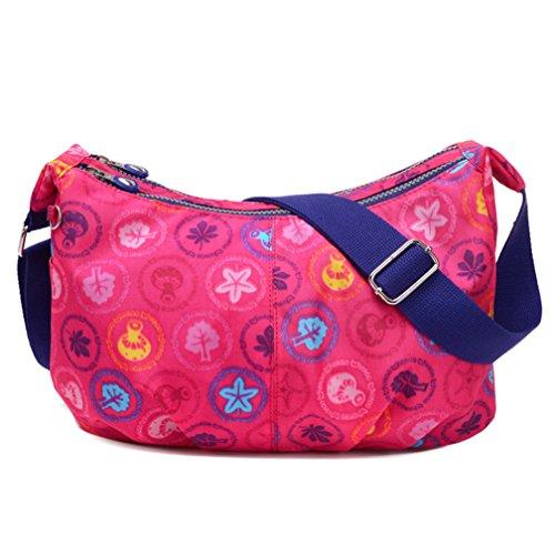 Women's TianHengYi Lightweight Pink Style body Cross Dumpling Bag Bag Shape Floral Nylon Shoulder Simple Messenger 4dgFvd