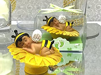 Ethnic Baby Shower Boy Bumble Bee Favor Or Cake Topper Centerpiece