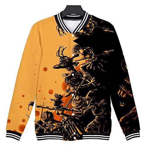Loom Bands Halloween Ghost (Halloween Sweatshirt for Men Ghost Printed Pullover Pumpkin Fighting Blood Hoodies Without Hat Blouse Tops WEI)