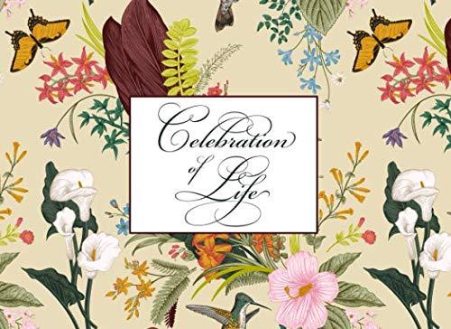 Celebration of Life: Wildflowers & Butterflies Memorial Service Guest Book - Garden Guest Book