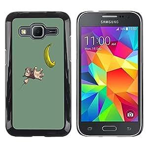 Be Good Phone Accessory // Dura Cáscara cubierta Protectora Caso Carcasa Funda de Protección para Samsung Galaxy Core Prime SM-G360 // Funny Cute Banana Monkey