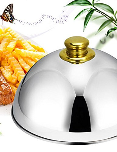 iecool Hotel Restaurant Thick Stainless Steel Metal Food Cover Gold 42cm by iecool (Image #2)